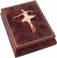 Cutie muzicala din lemn pentru bijuterii Balerina
