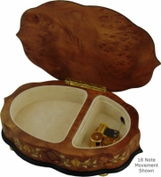 Cutie muzicala din lemn pentru bijuterii Dancing