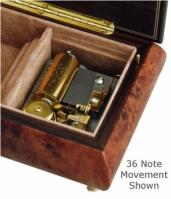 Cutie muzicala pentru bijuterii din lemn Butterflies