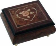 Cutiuta muzicala pentru bijuterii Inima si Floare