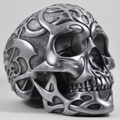 Craniu tribal argintiu by Design Clinic