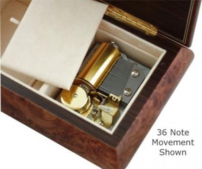 Cutie muzicala din lemn pentru bijuterii Clasic