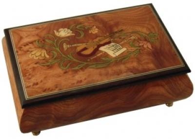 Cutie muzicala din lemn pentru bijuterii Vioara