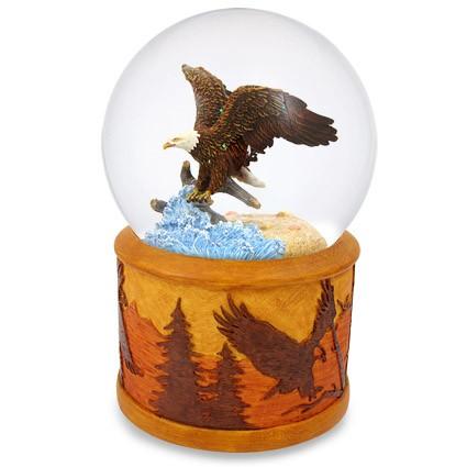 Mergi la Glob muzical cu apa vultur plesuv